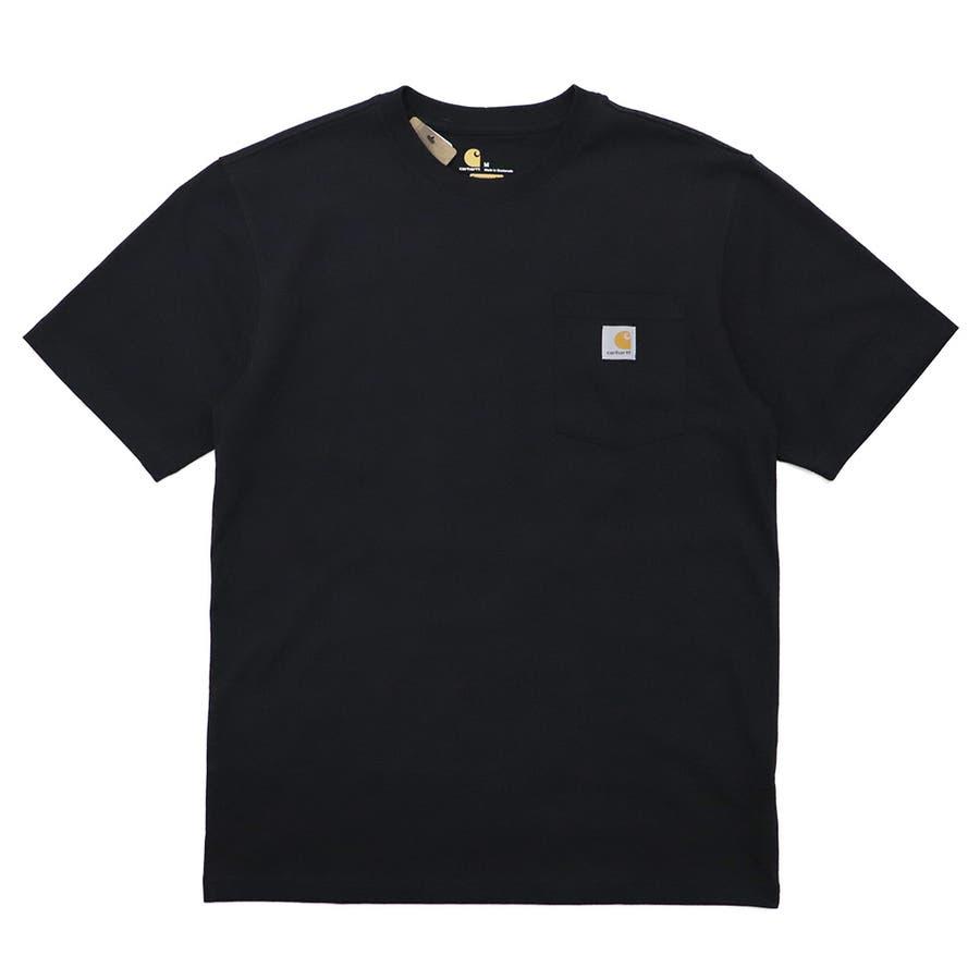 カーハート Tシャツ メンズ Carhartt K87 ヘビーウェイト ポケット付き 無地 半袖 トップス ファッション ブランド大きいサイズ 21