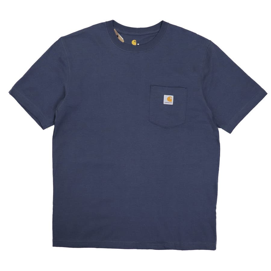 カーハート Tシャツ メンズ Carhartt K87 ヘビーウェイト ポケット付き 無地 半袖 トップス ファッション ブランド大きいサイズ 70