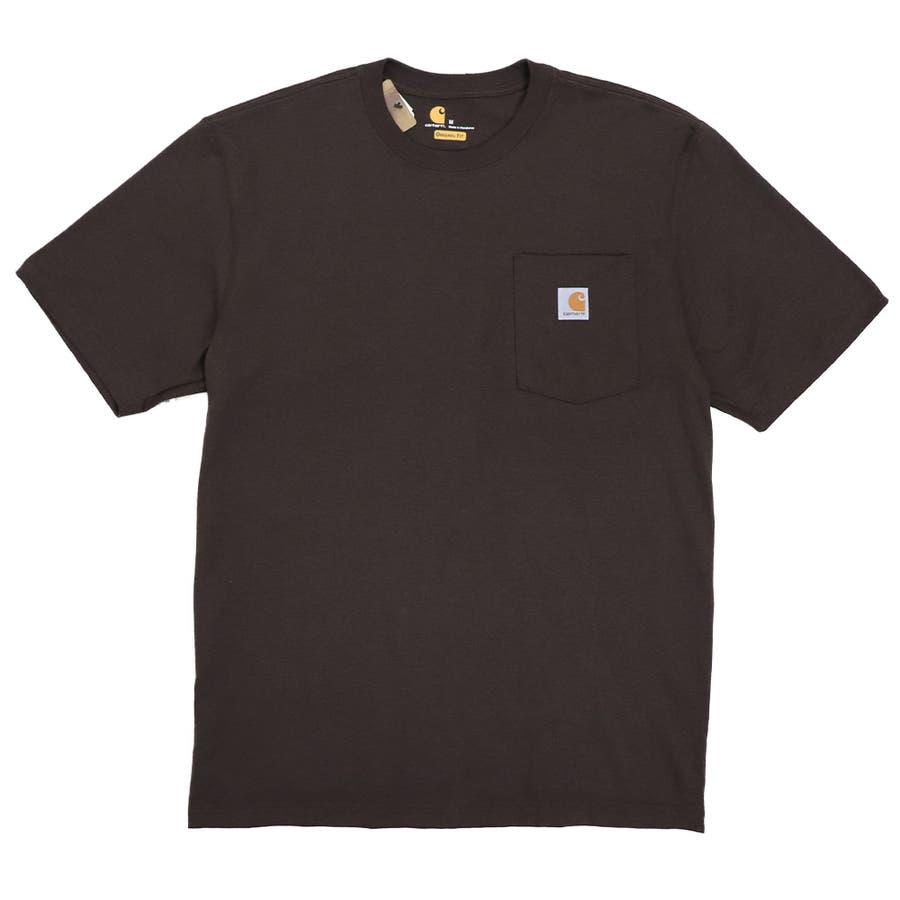 カーハート Tシャツ メンズ Carhartt K87 ヘビーウェイト ポケット付き 無地 半袖 トップス ファッション ブランド大きいサイズ 31