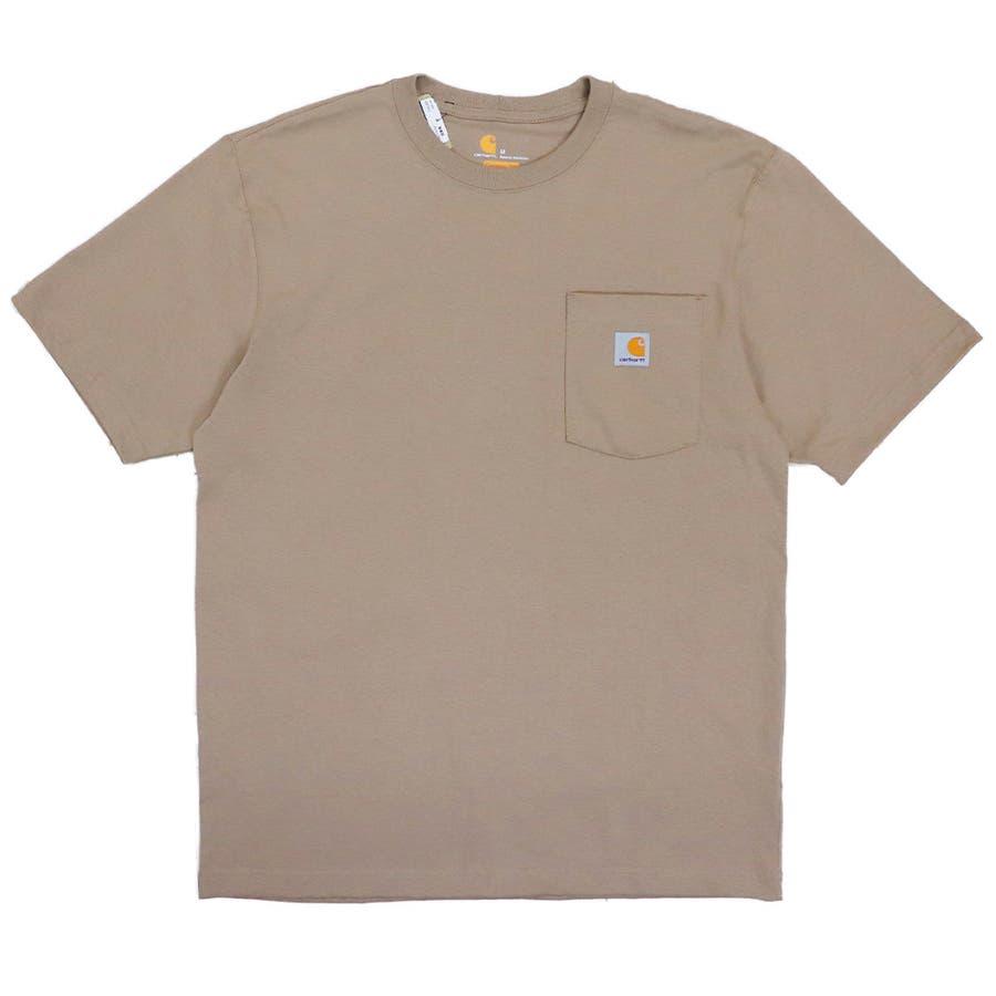 カーハート Tシャツ メンズ Carhartt K87 ヘビーウェイト ポケット付き 無地 半袖 トップス ファッション ブランド大きいサイズ 41