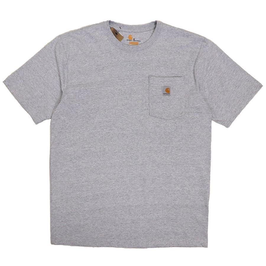 カーハート Tシャツ メンズ Carhartt K87 ヘビーウェイト ポケット付き 無地 半袖 トップス ファッション ブランド大きいサイズ 23