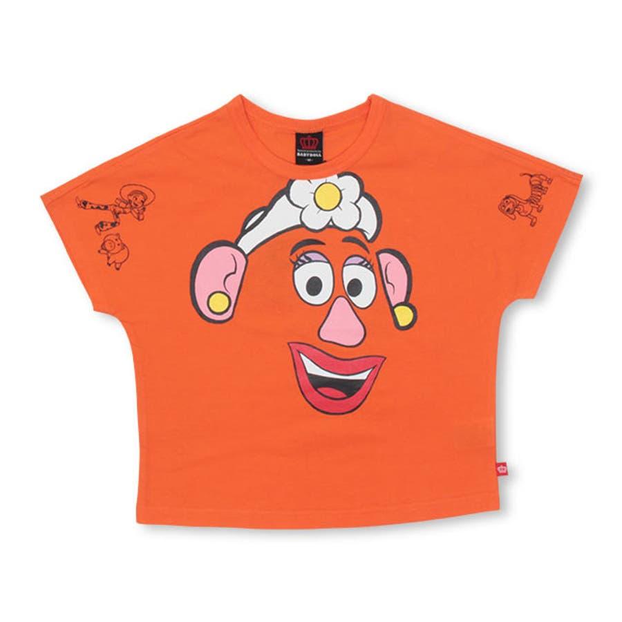 親子お揃い ディズニー BIGフェイス ドルマン Tシャツ 4150K ベビードール BABYDOLL 子供服 ベビー キッズ 男の子女の子 コスチューム コスプレ DISNEY★Collection 108