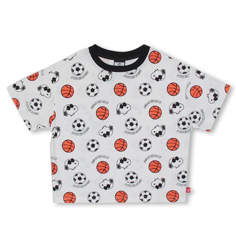通販限定 スヌーピー スポーツ 総柄 Tシャツ 4231K ベビードール BABYDOLL 子供服 ベビー キッズ 男の子 女の子 108