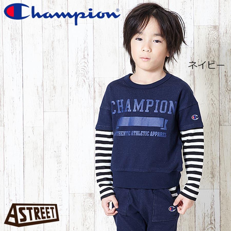 チャンピオン champion tシャツ キッズ ジュニア 子供服 男の子 長袖