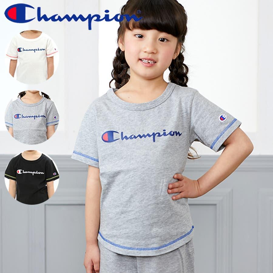 f328cf9c8d95d チャンピオン Champion Tシャツキッズ ジュニア 子供服 男の子 女の子 半袖 綿100% シャリ感. マウスを合わせると画像を拡大できます.  画像一覧を見る · Tシャツ