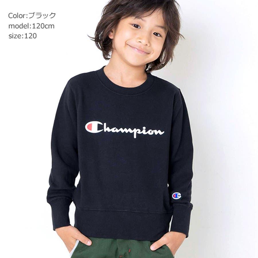 783e7b19c77944 チャンピオン Champion トレーナーキッズ ジュニア 子供服 男の子 ロゴ ...