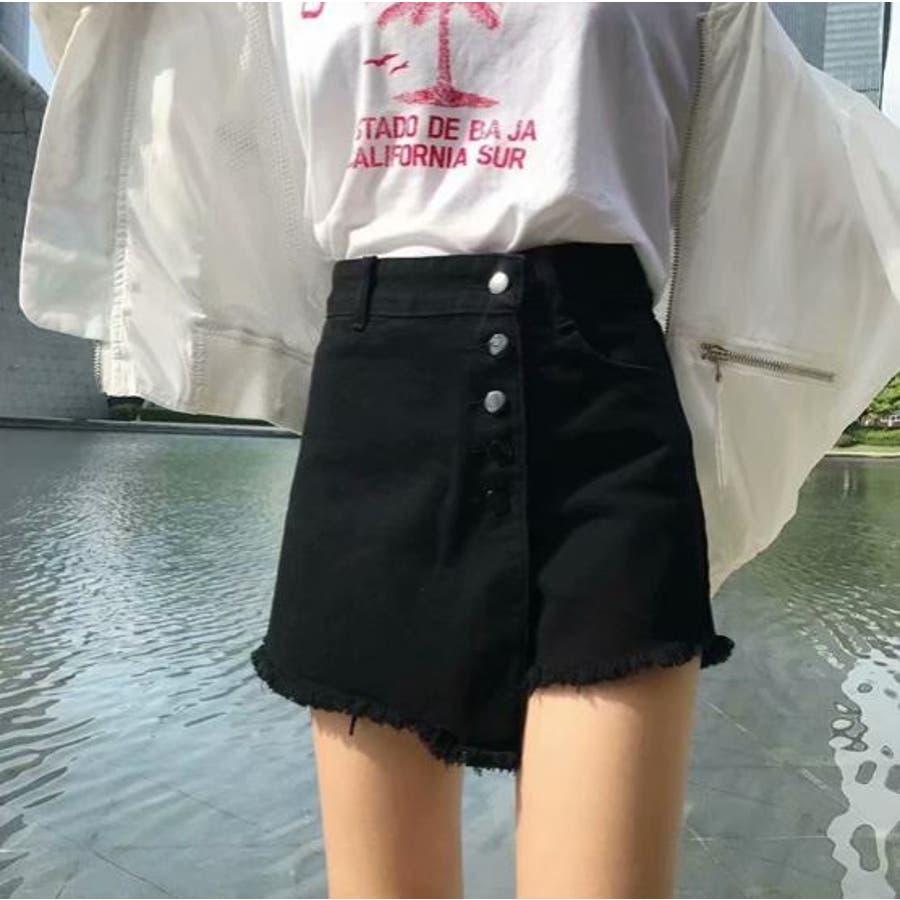 巻きスカート風ショートパンツ 21