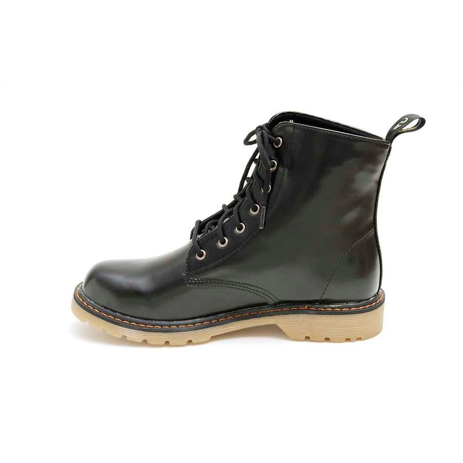 PUブーツ 原宿系 ブーツ マーチン パンク ロック ブーツ 黒 白 赤 青 派手 青文字系 KERA ACDC ACDCRAG 5