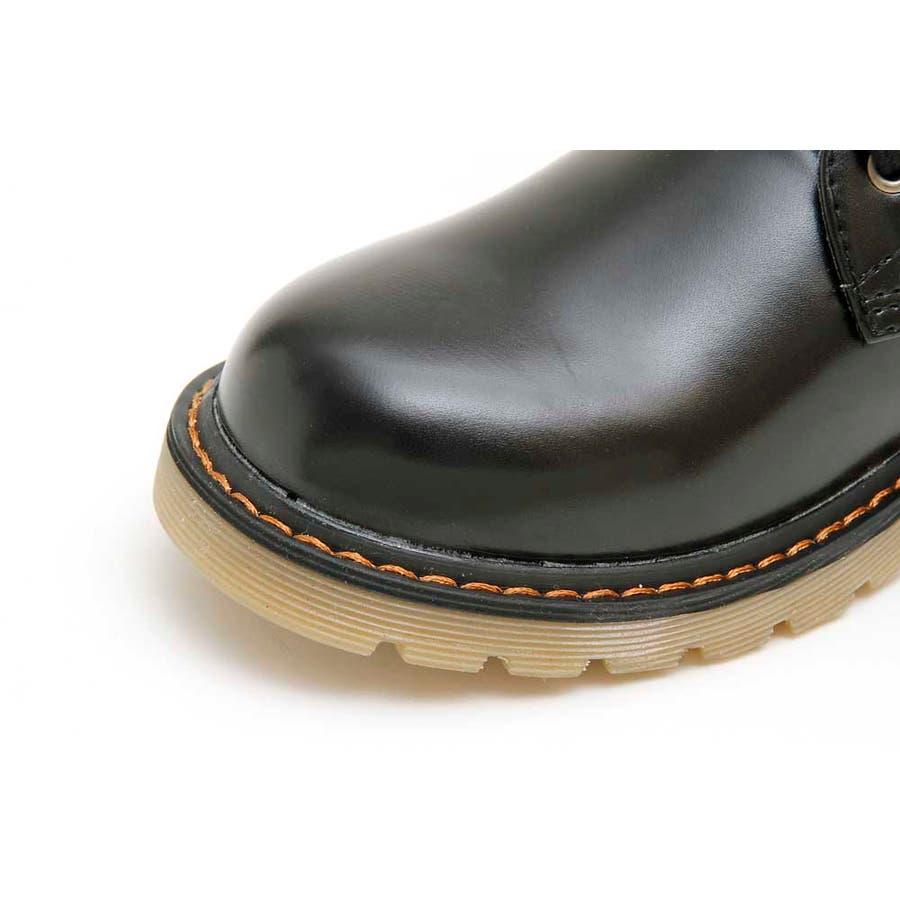 PUブーツ 原宿系 ブーツ マーチン パンク ロック ブーツ 黒 白 赤 青 派手 青文字系 KERA ACDC ACDCRAG 8