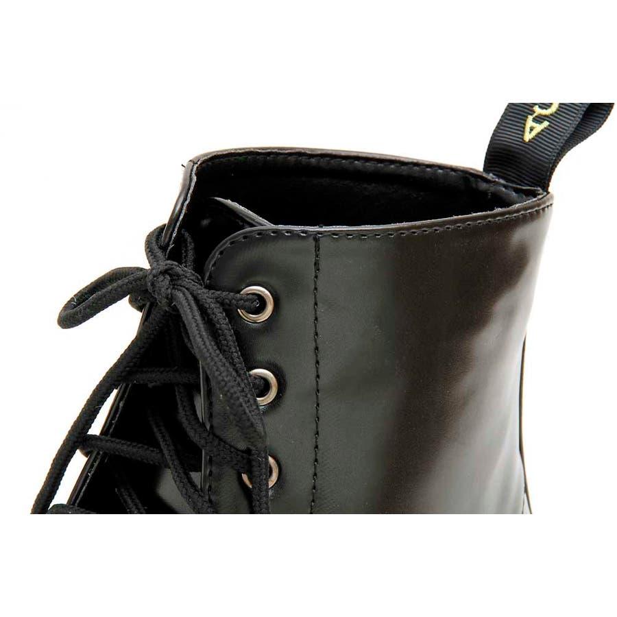 PUブーツ 原宿系 ブーツ マーチン パンク ロック ブーツ 黒 白 赤 青 派手 青文字系 KERA ACDC ACDCRAG 6