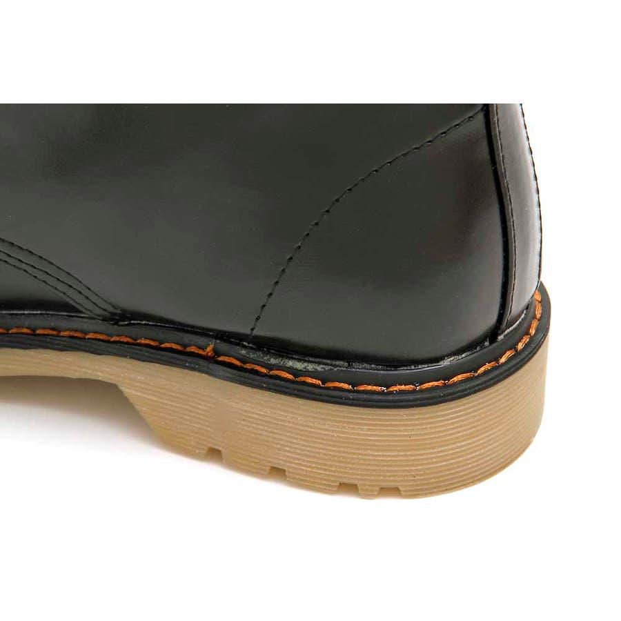 PUブーツ 原宿系 ブーツ マーチン パンク ロック ブーツ 黒 白 赤 青 派手 青文字系 KERA ACDC ACDCRAG 7
