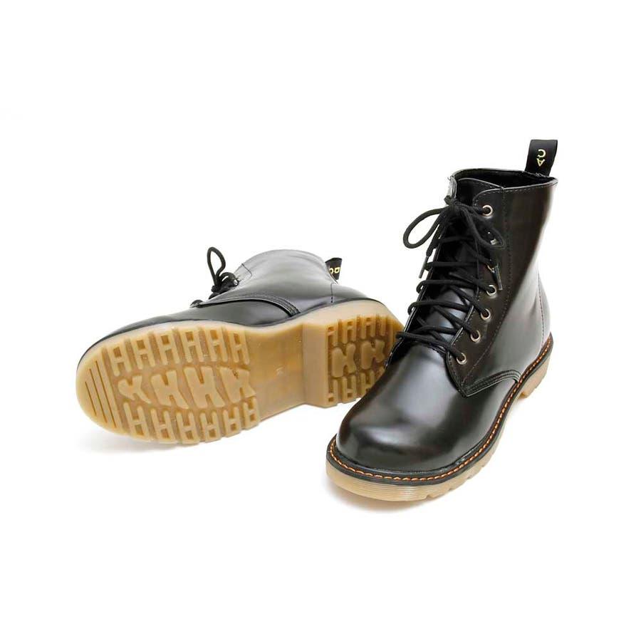 PUブーツ 原宿系 ブーツ マーチン パンク ロック ブーツ 黒 白 赤 青 派手 青文字系 KERA ACDC ACDCRAG 2
