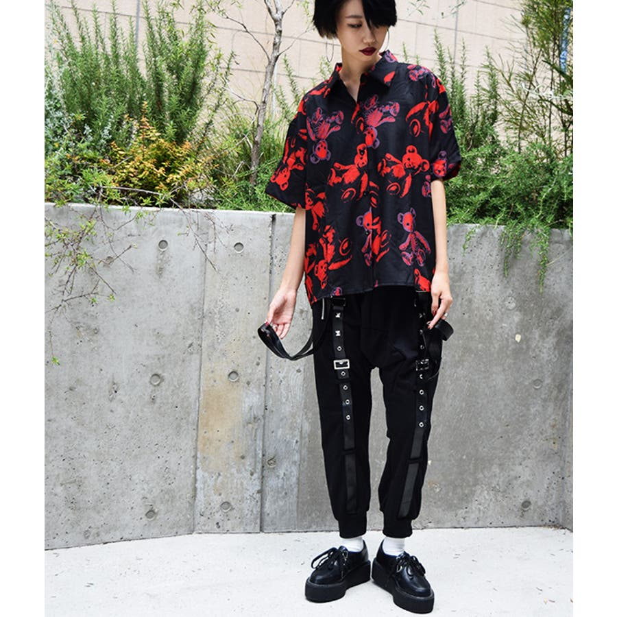 スタッズサルエル サルエルパンツ スウェットパンツ スエット パンク ロック ファッション 原宿系 メンズ レディース 黒 V系, Vホス バンド  衣装 黒 スタッズ クール かっこいい 個性派 個性的
