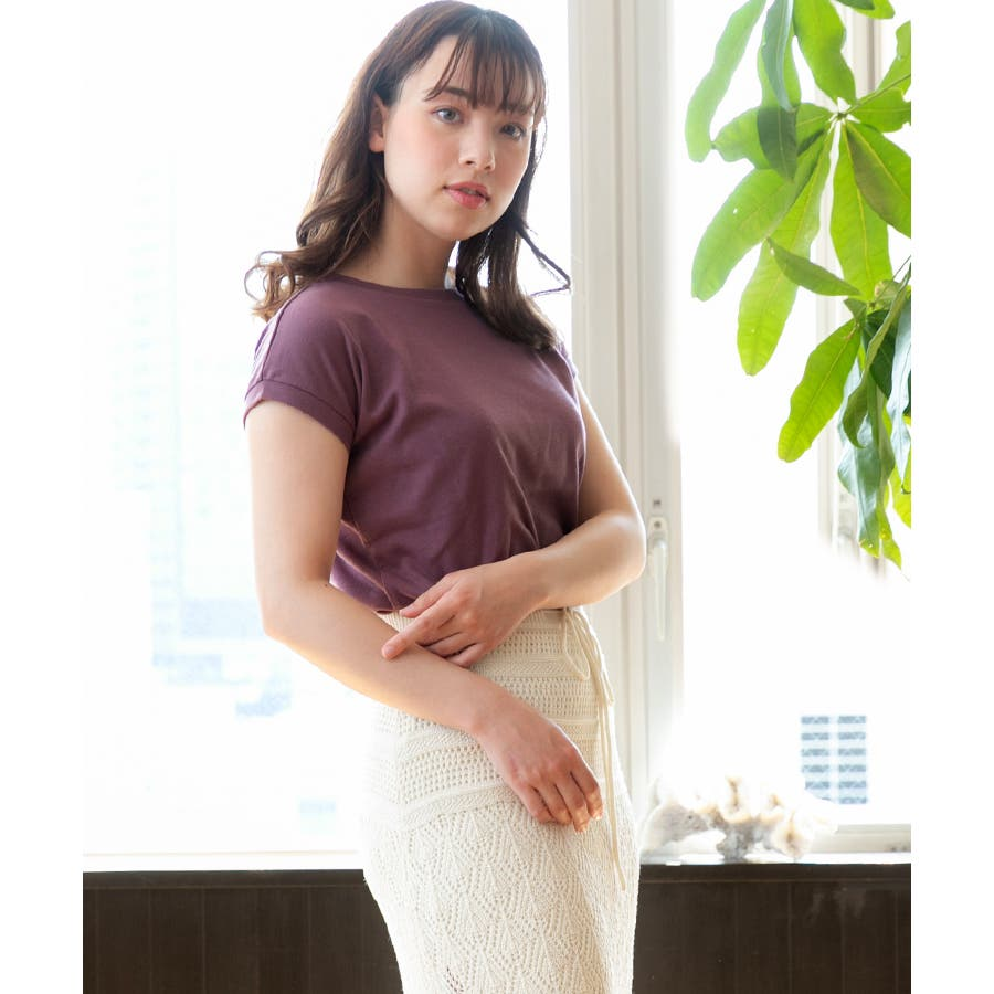 スムースシンプルTシャツ 77
