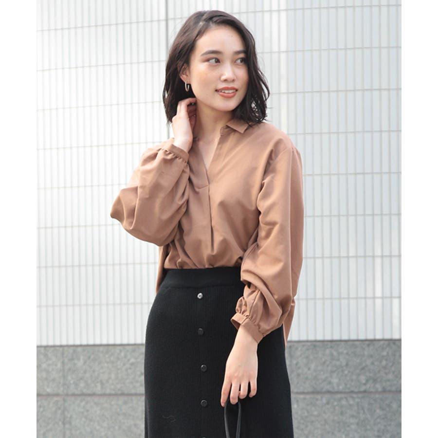 袖ボリューム前タックスキッパーシャツ 29