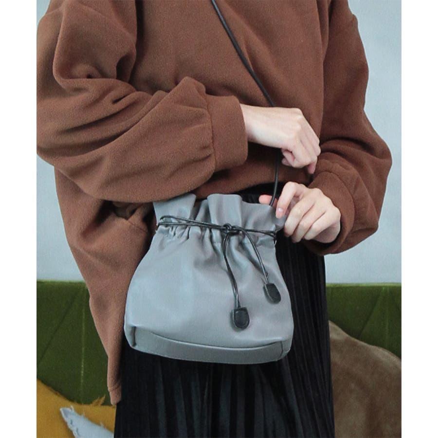 合皮巾着型ミニショルダーバッグ 25