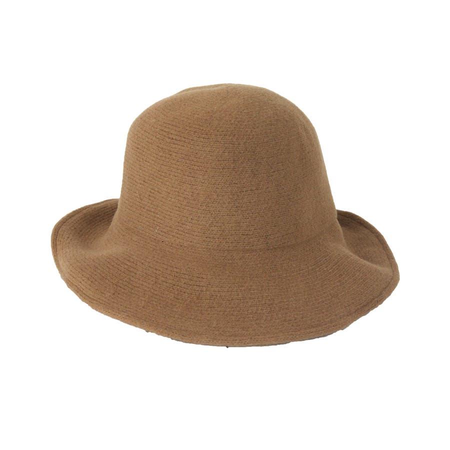 ウール混 ラウンドハット 帽子 9