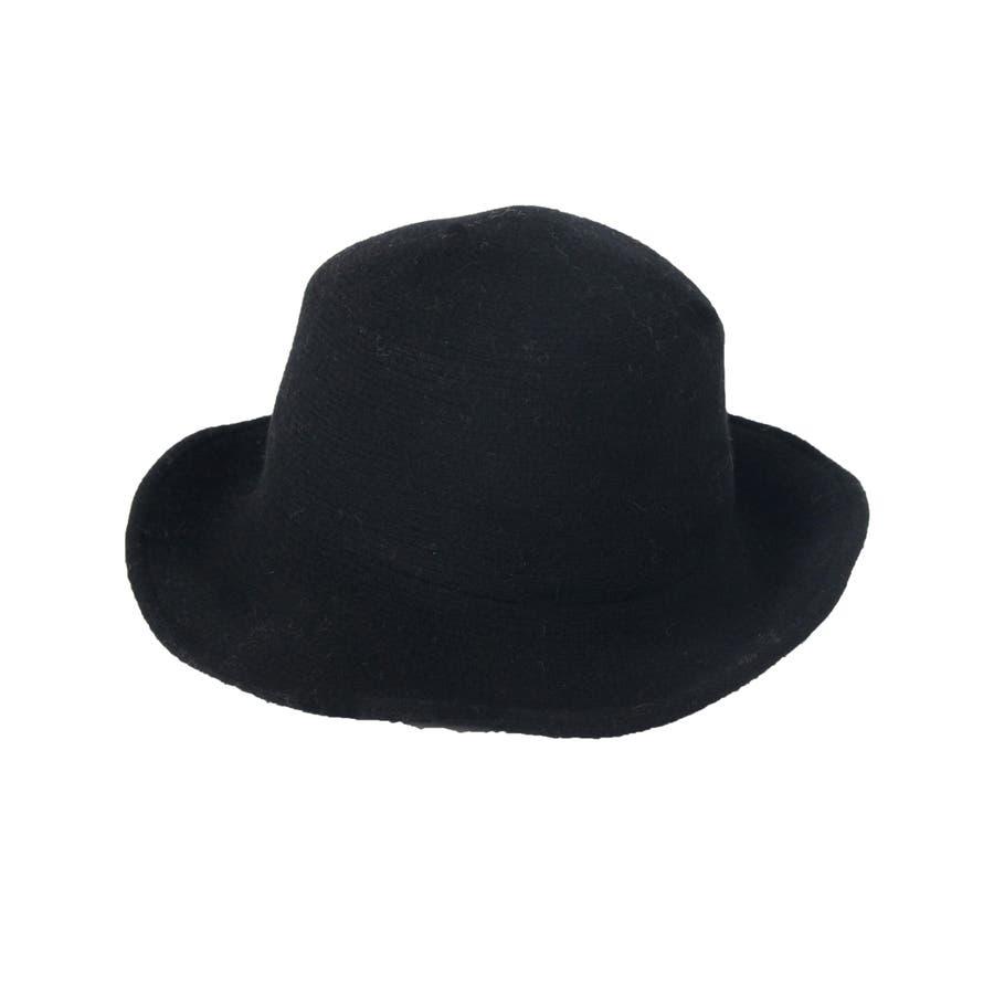 ウール混 ラウンドハット 帽子 10