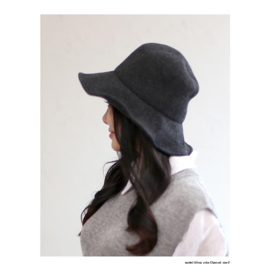 ウール混 ラウンドハット 帽子 5