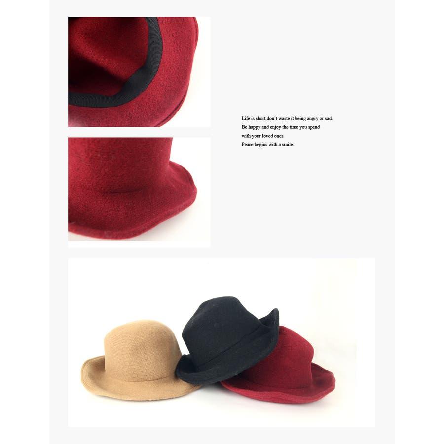 ウール混 ラウンドハット 帽子 6
