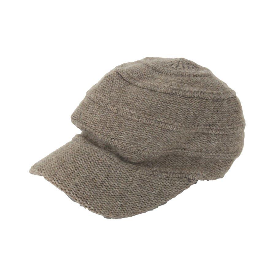 ニットキャスケット ウール混 帽子 7