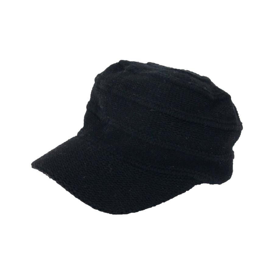ニットキャスケット ウール混 帽子 8