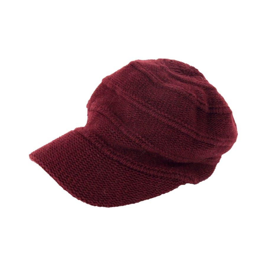 ニットキャスケット ウール混 帽子 9