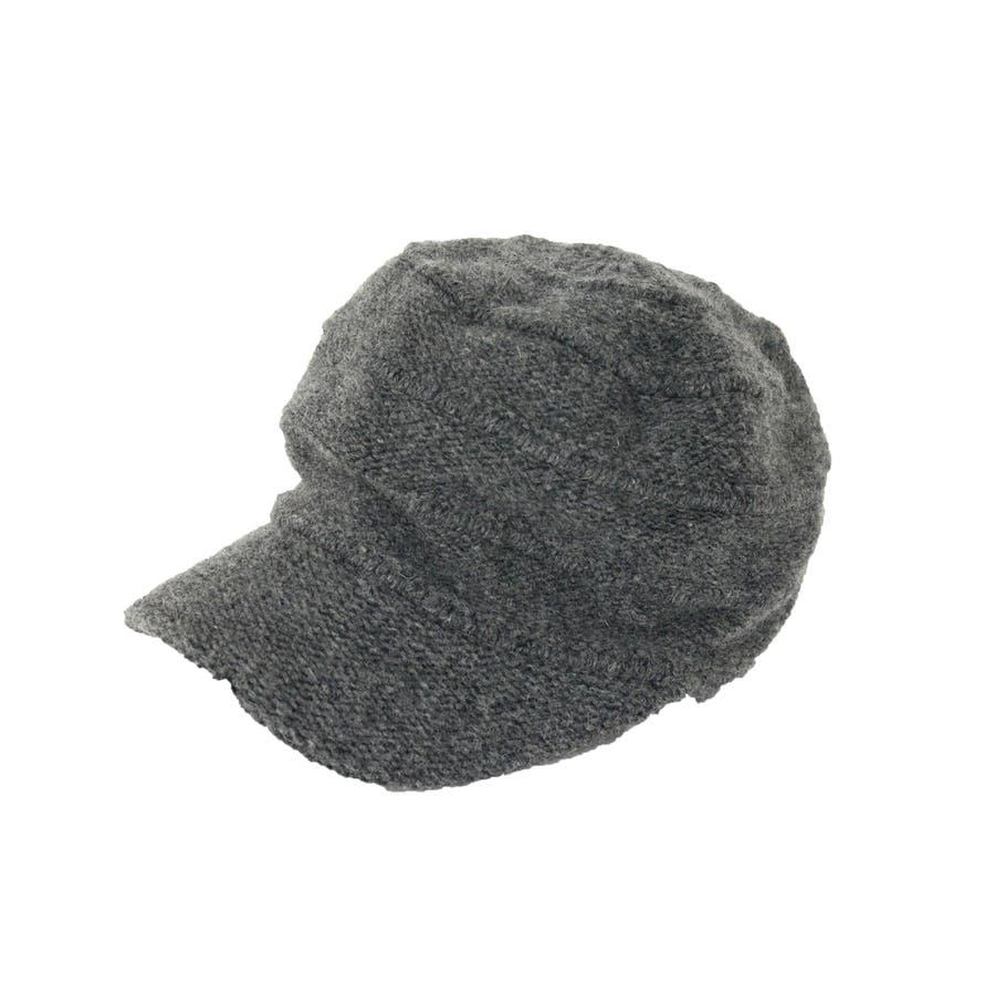 ニットキャスケット ウール混 帽子 10