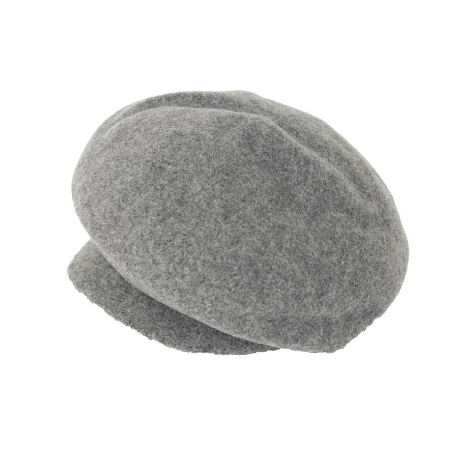 まぁるいフォルム ウール混キャスケット 帽子 6