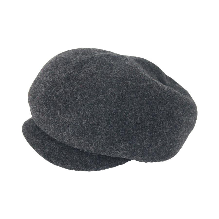 まぁるいフォルム ウール混キャスケット 帽子 7