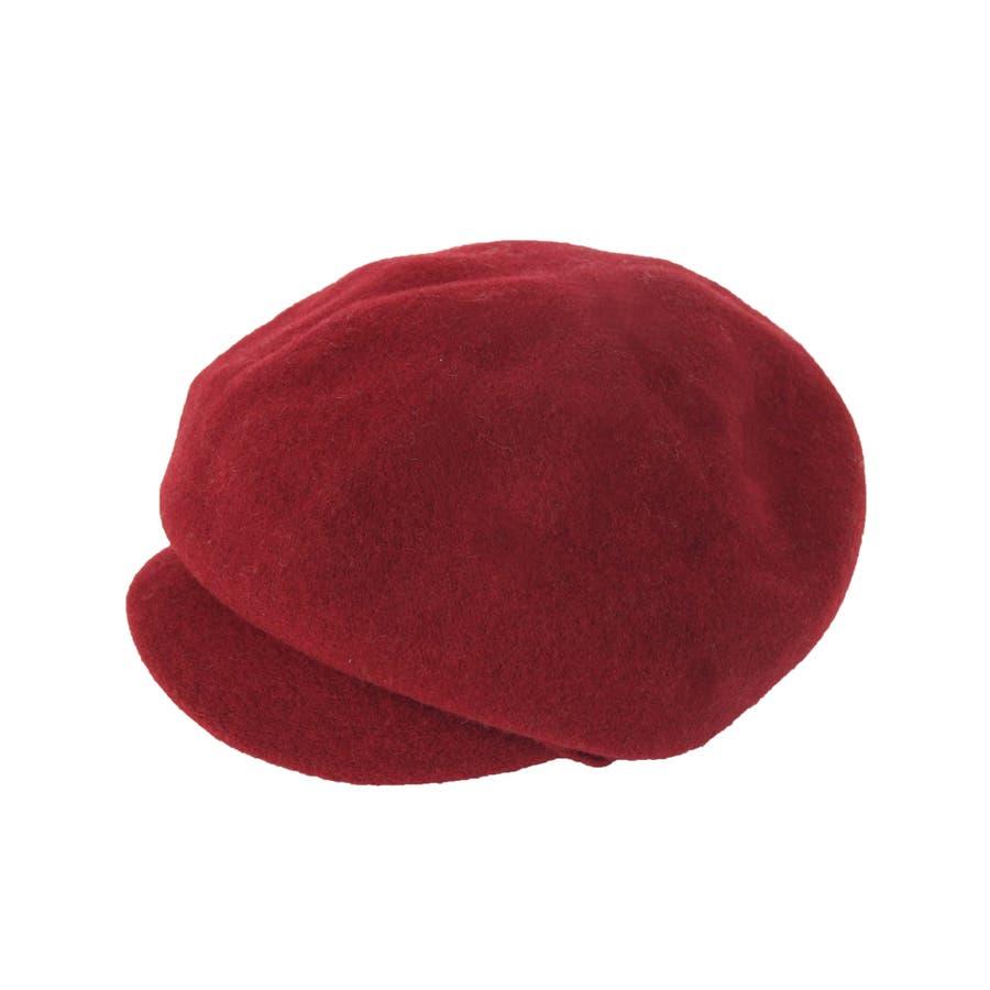 まぁるいフォルム ウール混キャスケット 帽子 9