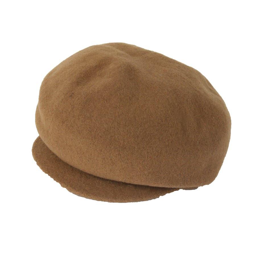 まぁるいフォルム ウール混キャスケット 帽子 10