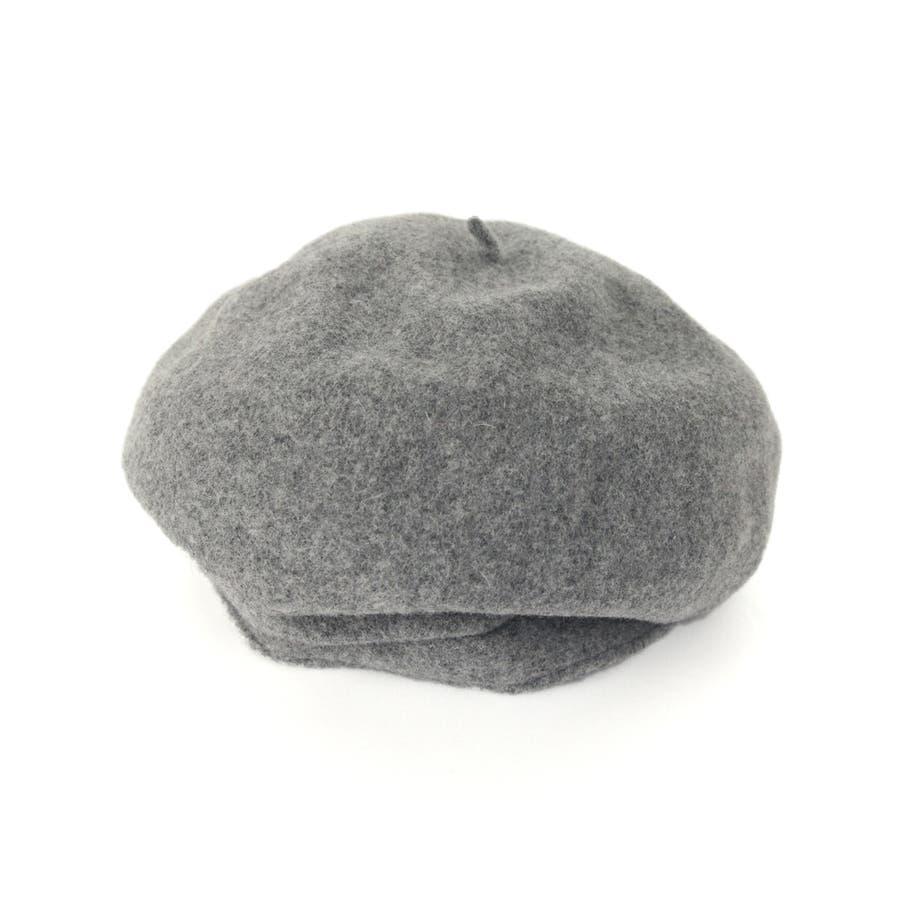 ベーシック ウール混ベレー 帽子 フェルト 8