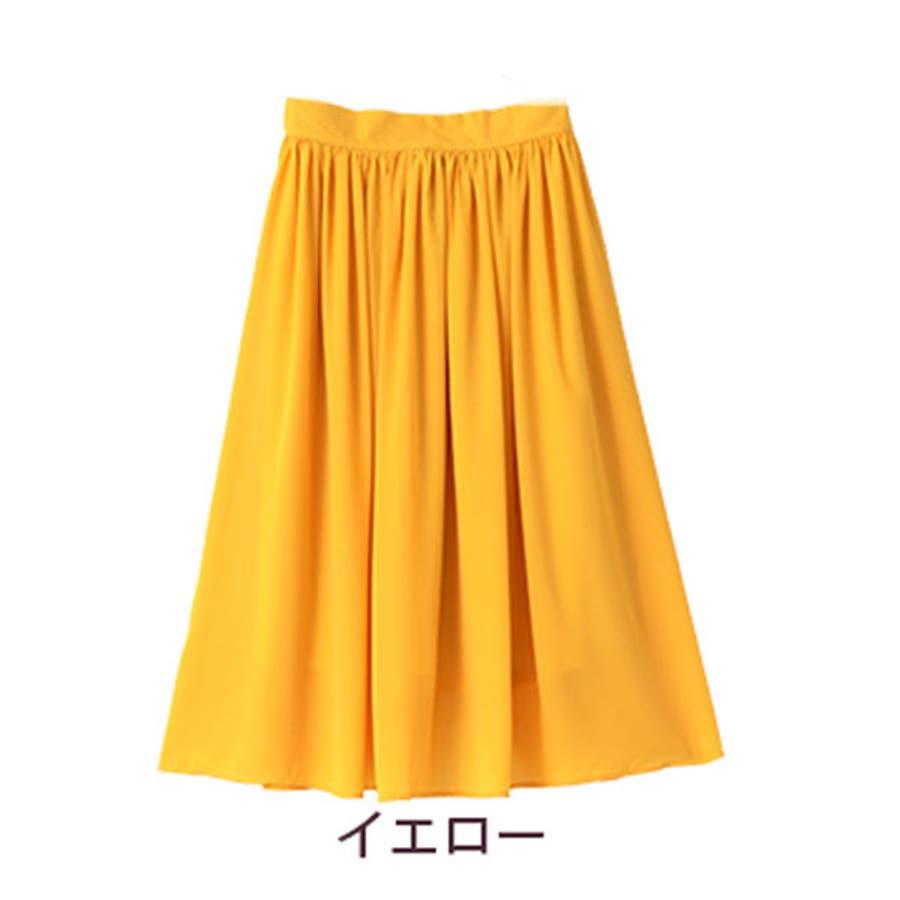 大きいサイズ レディース スカート | スッキリ見え ロング丈 たっぷりギャザー シフォンスカート _ オリジナルボトムスロングスカート ロング丈スカート LL 3L 4L 5L 6L 夏 夏物 夏服 夏用 ぽっちゃり かわいい おしゃれ 可愛い大人きれいめ [422029] OMMBT 83