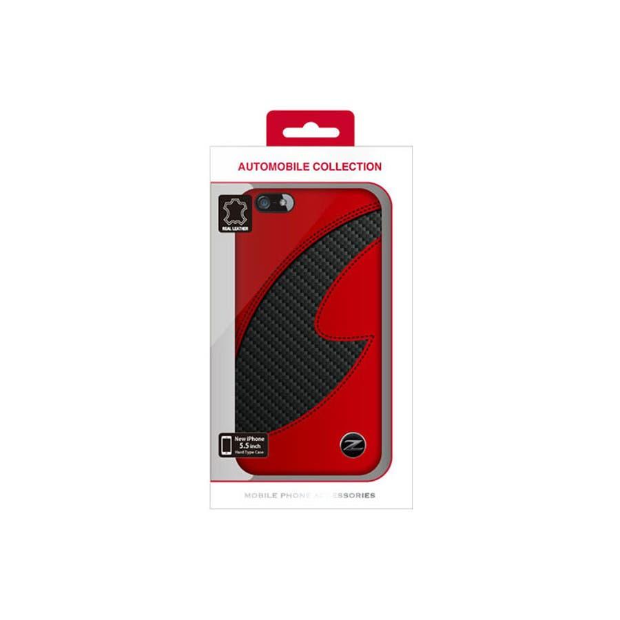 f7af7fc3cb NISMO 公式ライセンス商品 iPhone6sPlus iPhone6Plus ケース FAIRLADY Z カーボン調 本革ハード Case レッド