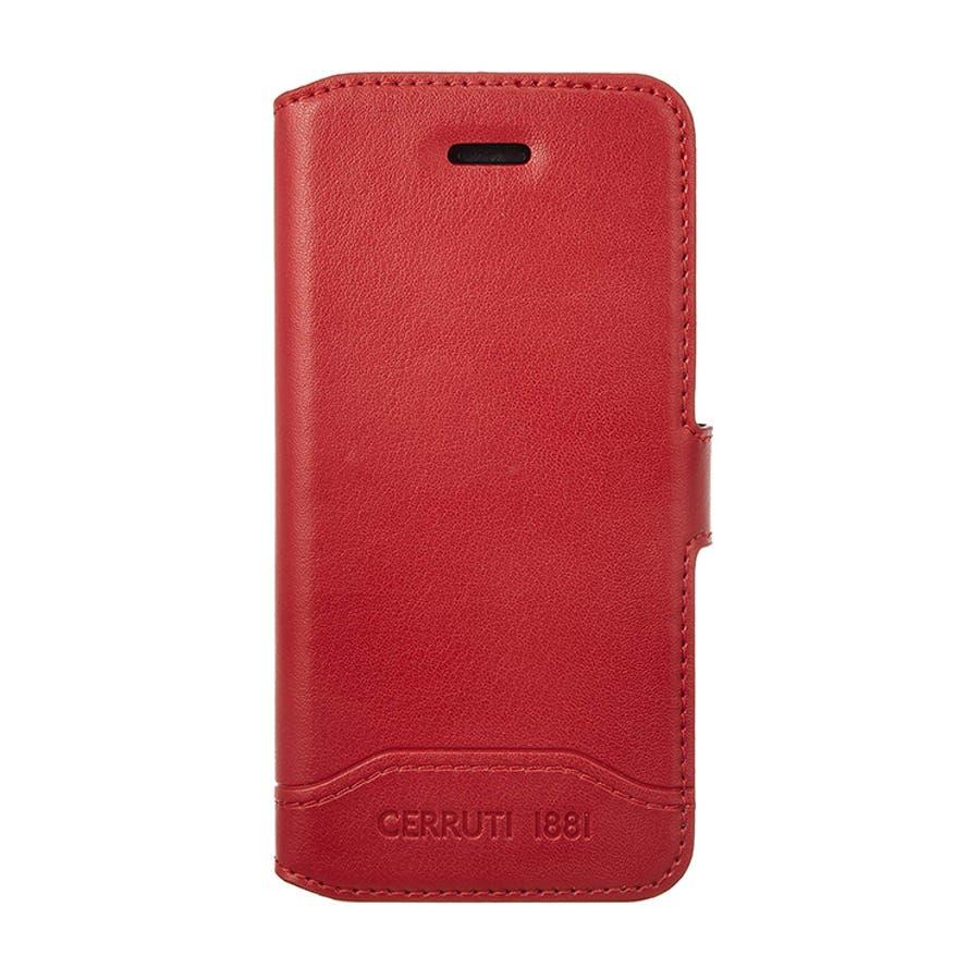 b6ee7632e8 CERRUTI 公式ライセンス品 iPhoneSE iPhone5s iPhone5 手帳型ケース レッド ブランド マグネットベルトカードポケット