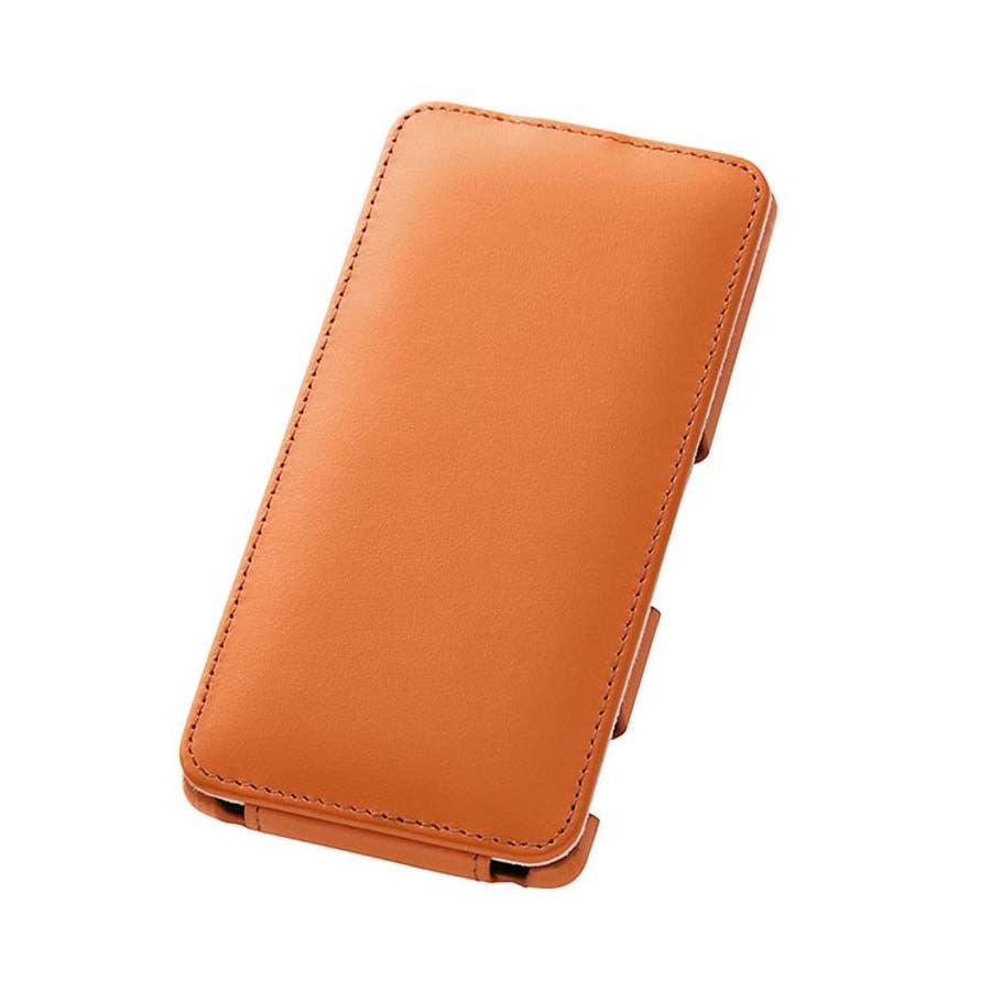 Xperia Z3 (SO-01G) 縦型 手帳型ケース キャメル ポケット付き SO01G用 レザージャケット(フラップ 本革)RT-SO01GLC2/K RT-SO01GLC2-K 1