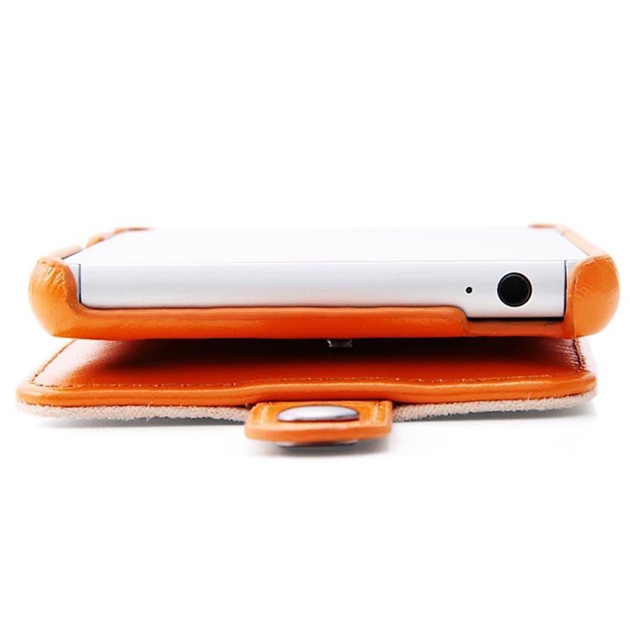 Xperia Z3 (SO-01G) 縦型 手帳型ケース キャメル ポケット付き SO01G用 レザージャケット(フラップ 本革)RT-SO01GLC2/K RT-SO01GLC2-K 2