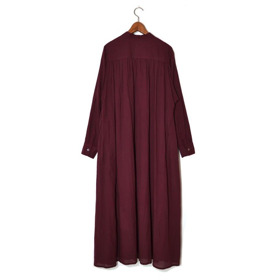 コットンボイル・バンドカラーONE PIECE DRESS 9