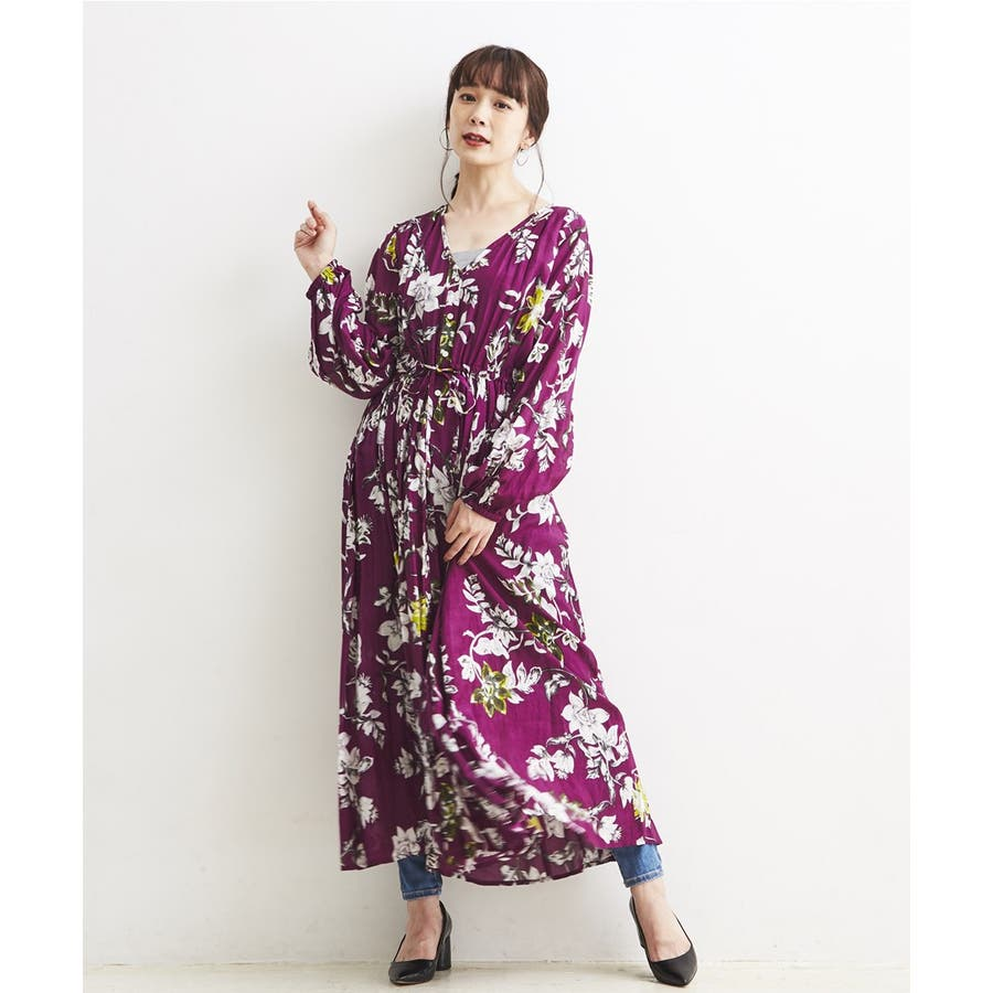 フラワーシックPRINT・ONE PIECE DRESS 96