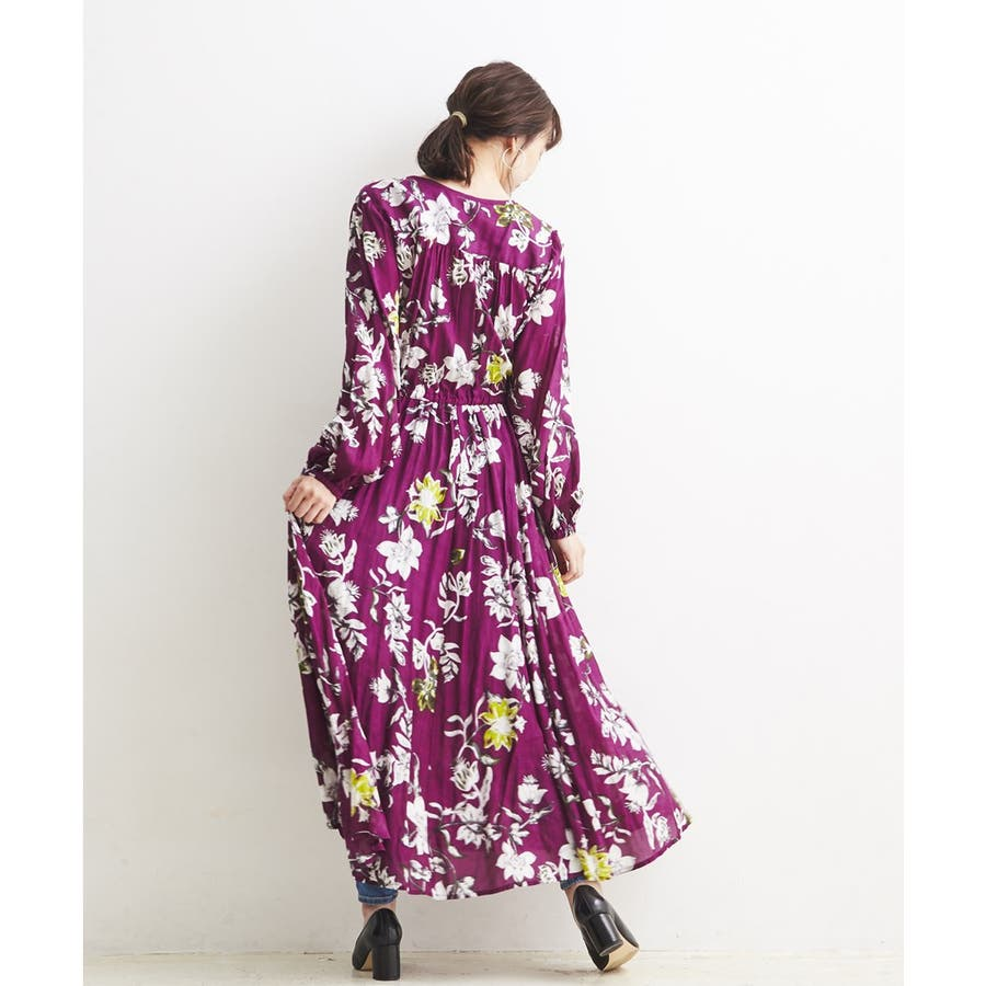 フラワーシックPRINT・ONE PIECE DRESS 3