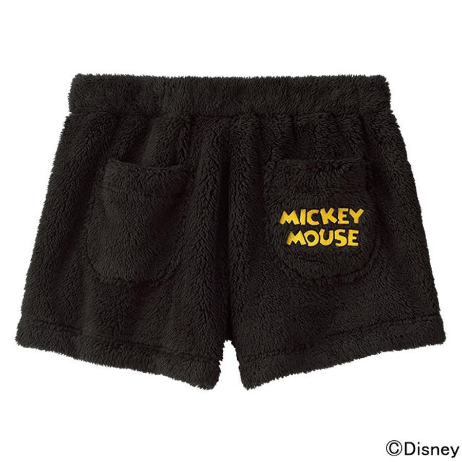 キャラクター ショートパンツ もこもこ ミッキー 単品ボトムス(ディズニー あったか 冬 ルームウェア ふんわり 女性 パンツかわいい 可愛い ふわもこ レディース 部屋着 パジャマ ルームウエア ナイトウェア モコモコ )outlet 4