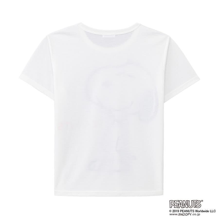 スヌーピー&フレンズ 上下セット(半袖Tシャツ+ショートパンツ)(ルームウェア パジャマ セット レディース 春夏 部屋着キャラクター かわいい 短パン セットアップ 可愛い ルーム ウェア ルームウエア 夏 ティーシャツ 大人)outlet 5