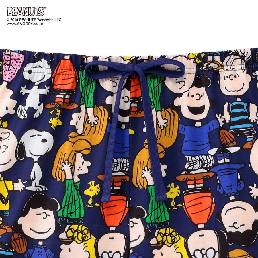 スヌーピー&フレンズ 上下セット(半袖Tシャツ+ショートパンツ)(ルームウェア パジャマ セット レディース 春夏 部屋着キャラクター かわいい 短パン セットアップ 可愛い ルーム ウェア ルームウエア 夏 ティーシャツ 大人)outlet 7