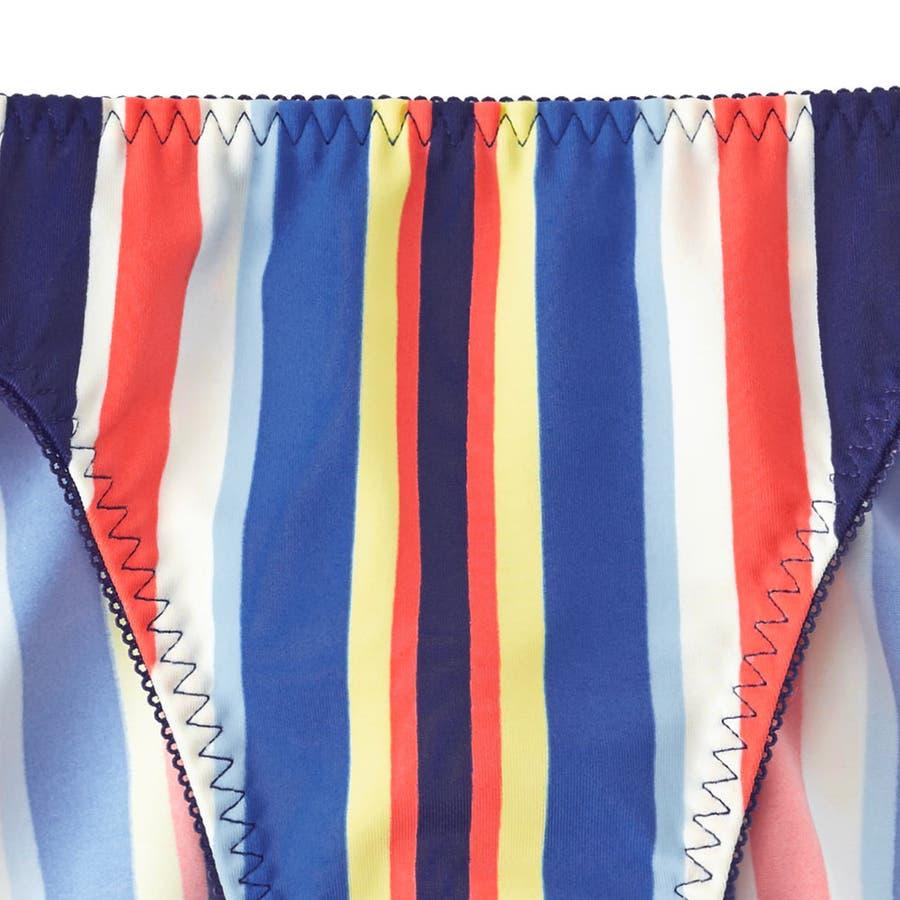 ショーツ 女性 Colorful Stripe プレーンショーツ ( 下着 パンツ ストライプ柄 パンティ スタンダード レディースレース ストライプ パンティー 柄 可愛いショーツ 可愛い かわいい かわいい下着 ぱんつ 単品 ) 6