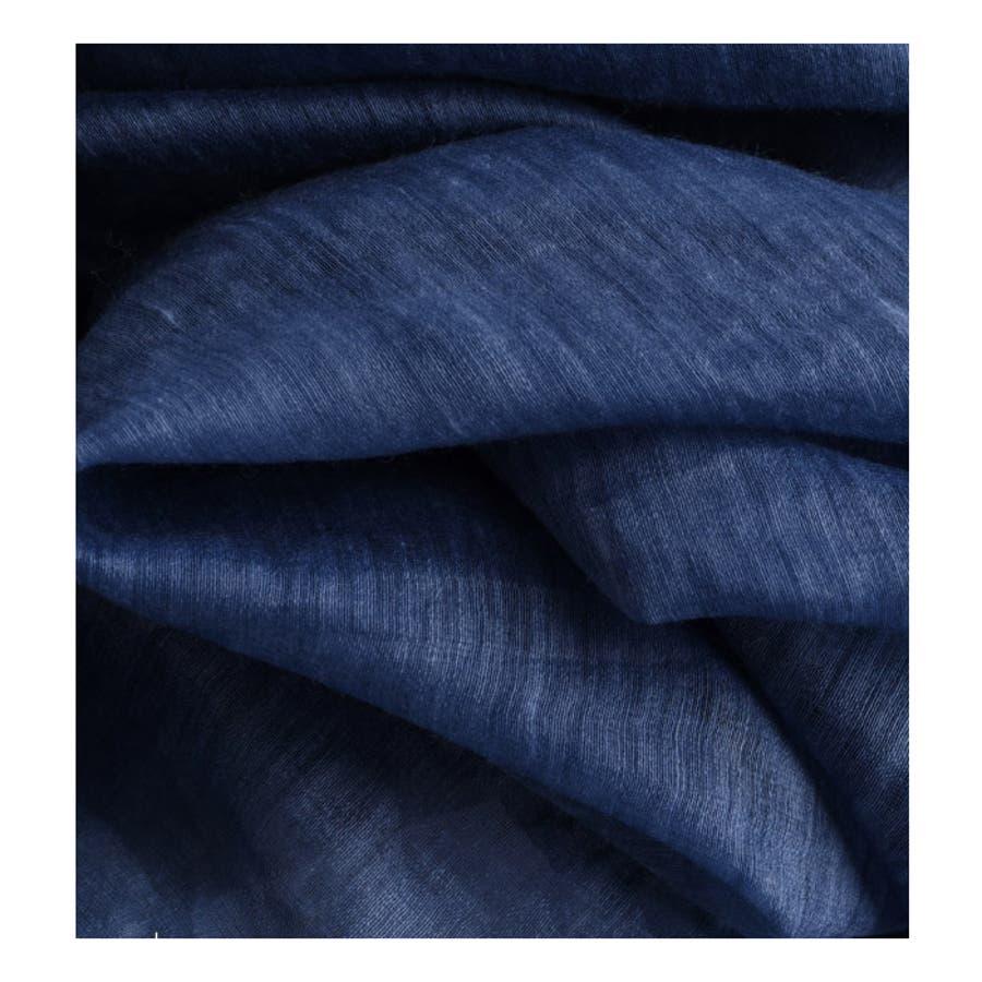 刺繍入りオーガンジー大判シルクウールストール/大判/レディース/ストール/オーガンジー/刺繍 秋冬 秋 9