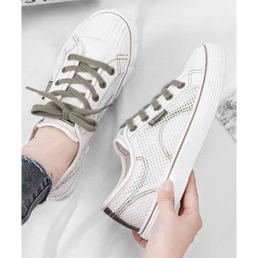 スニーカー レディース ローカット キャンバス スニーカー ベーシック 靴紐 紐靴 シューズ 運動靴 ホワイト 黒 ブラック 白 ホワイト 8