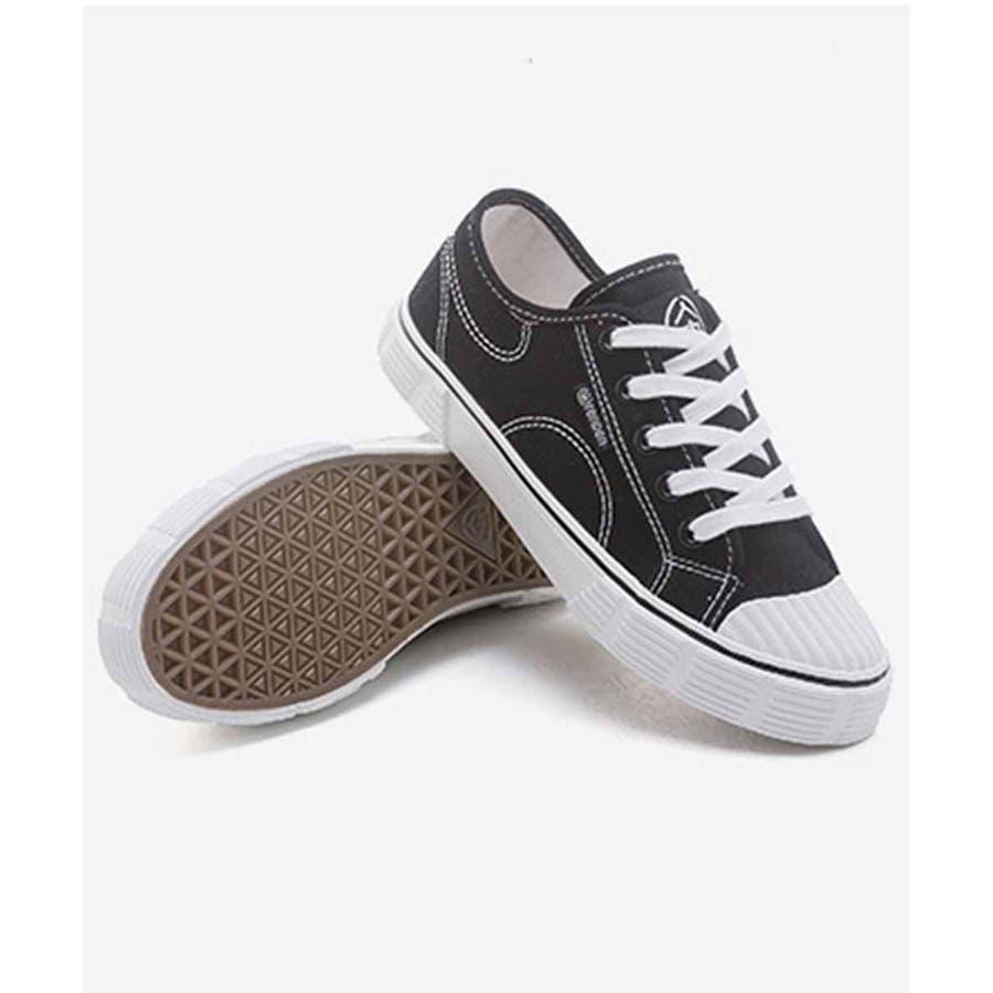 スニーカー レディース ローカット キャンバス スニーカー ベーシック 靴紐 紐靴 シューズ 運動靴 ホワイト 黒 ブラック 白 ホワイト 6