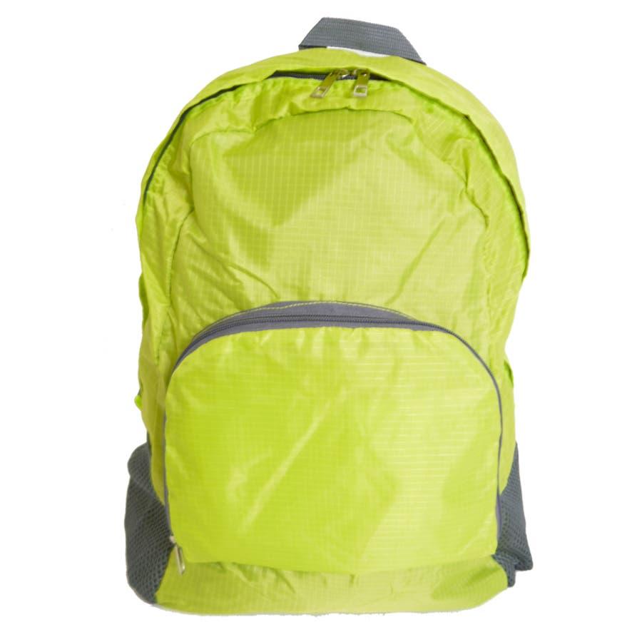 エコリュック  『  レジ袋の代わりに エコバッグ 折りたたみ コンパクト バックパック 』 多機能マザーズバッグ 旅行 レジャー 軽量 サブバッグ トレンド 生活雑貨 AISCANDY 48