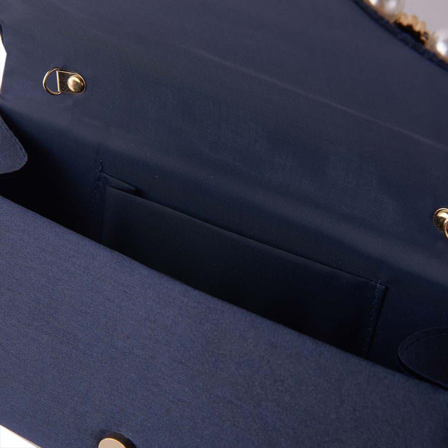 パーティバッグ バッグ キラキラ レディース 斜めがけ パーティー かばん ショルダーバッグ ハンドバッグ クラッチバッグ 結婚式お呼ばれ 二次会 披露宴 演奏会 パール&ストーン3WAYバッグ [フェイ] ALTROSE アルトローズ 4